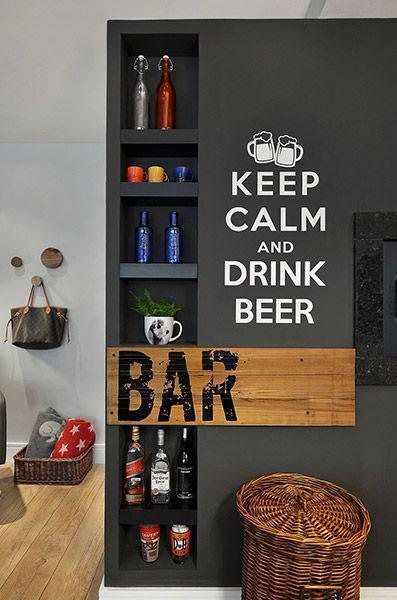 Wall bar: 60 amazing designs, designs and photos 4