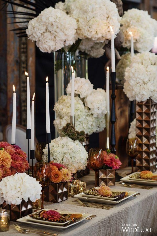 Wedding arrangements: 70 ideas for table, flowers and decoration 32