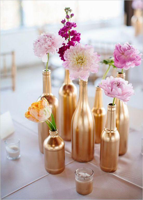 Table Top with Bottle: see beautiful ideas to decorate the table