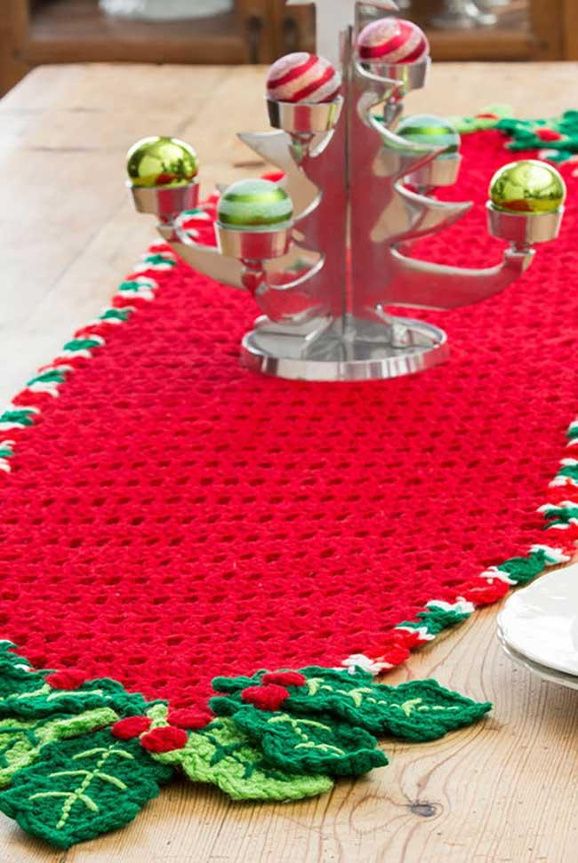 Red to highlight the crochet table path