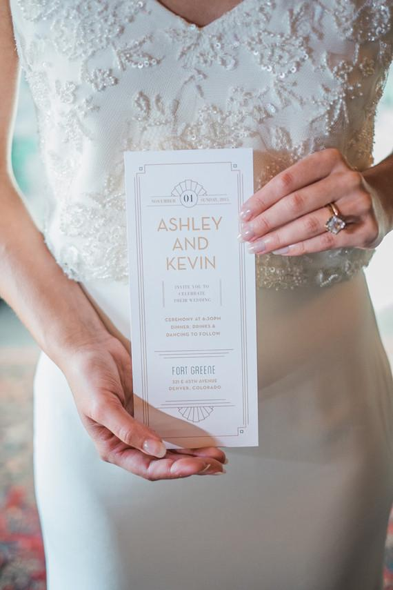 Elegant invitation but with a more modern look