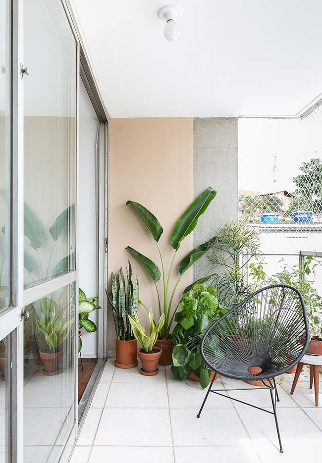 Balcony floor to accommodate the small plants