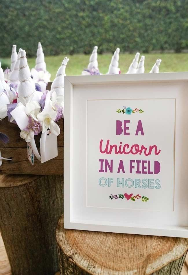 Be a unicorn on a horse field