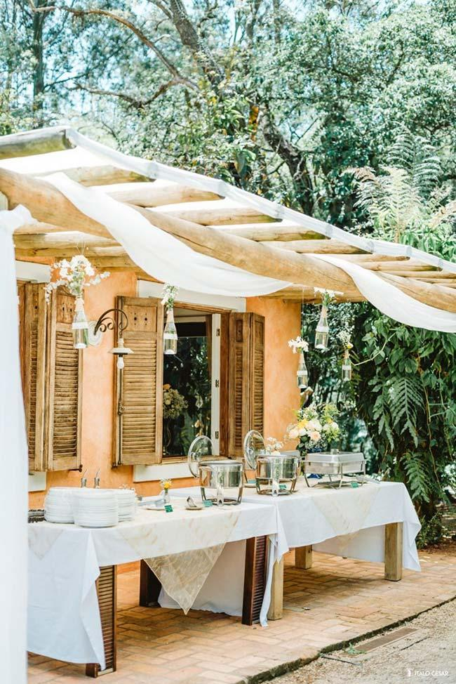 Wooden parchment in home wedding decoration