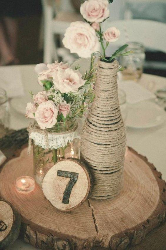 Table Top with Bottle: see beautiful ideas to decorate the table 22