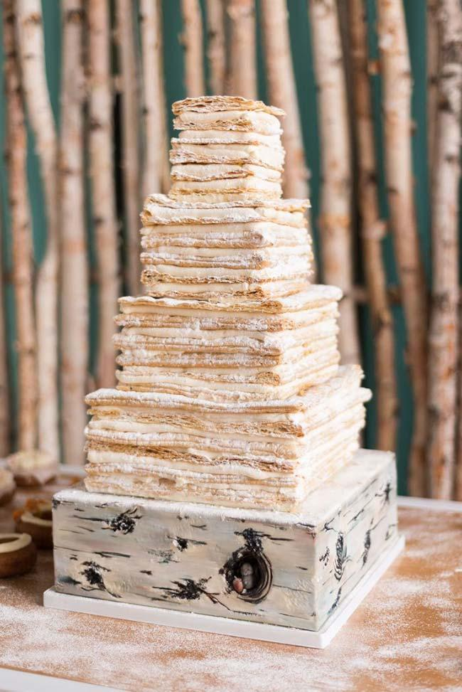 Naked cake for cheap wedding