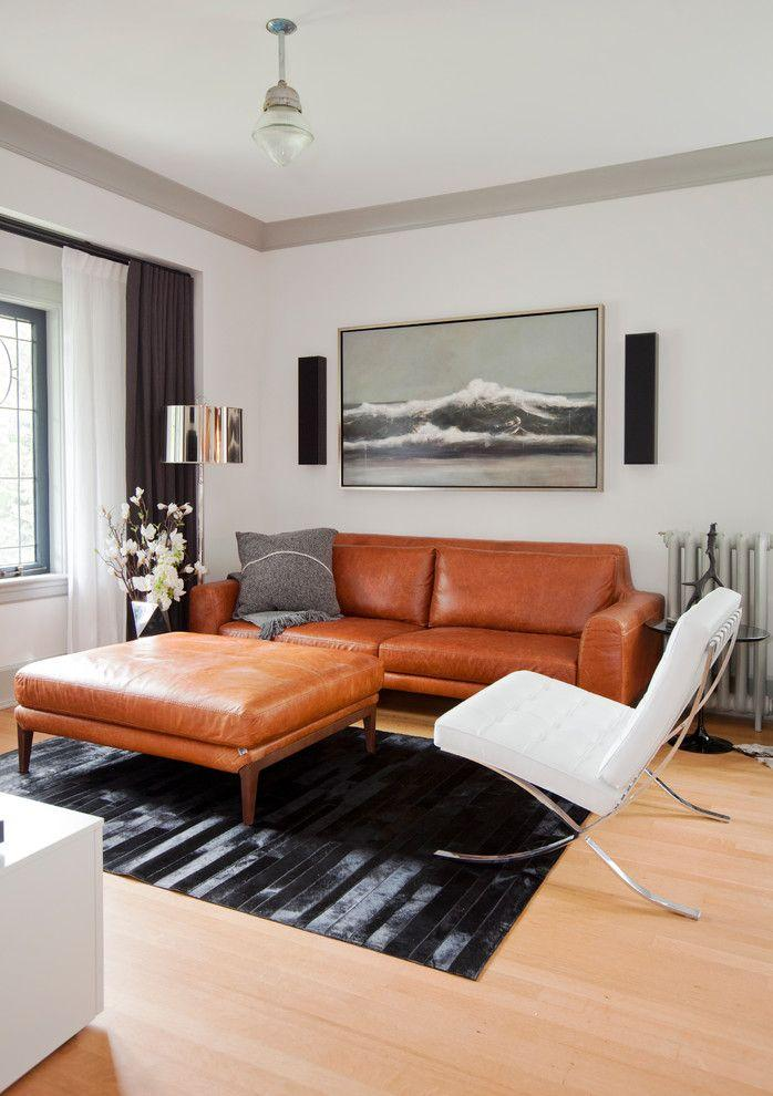 Leather sofa: 70 incredible models to decorate environments 66