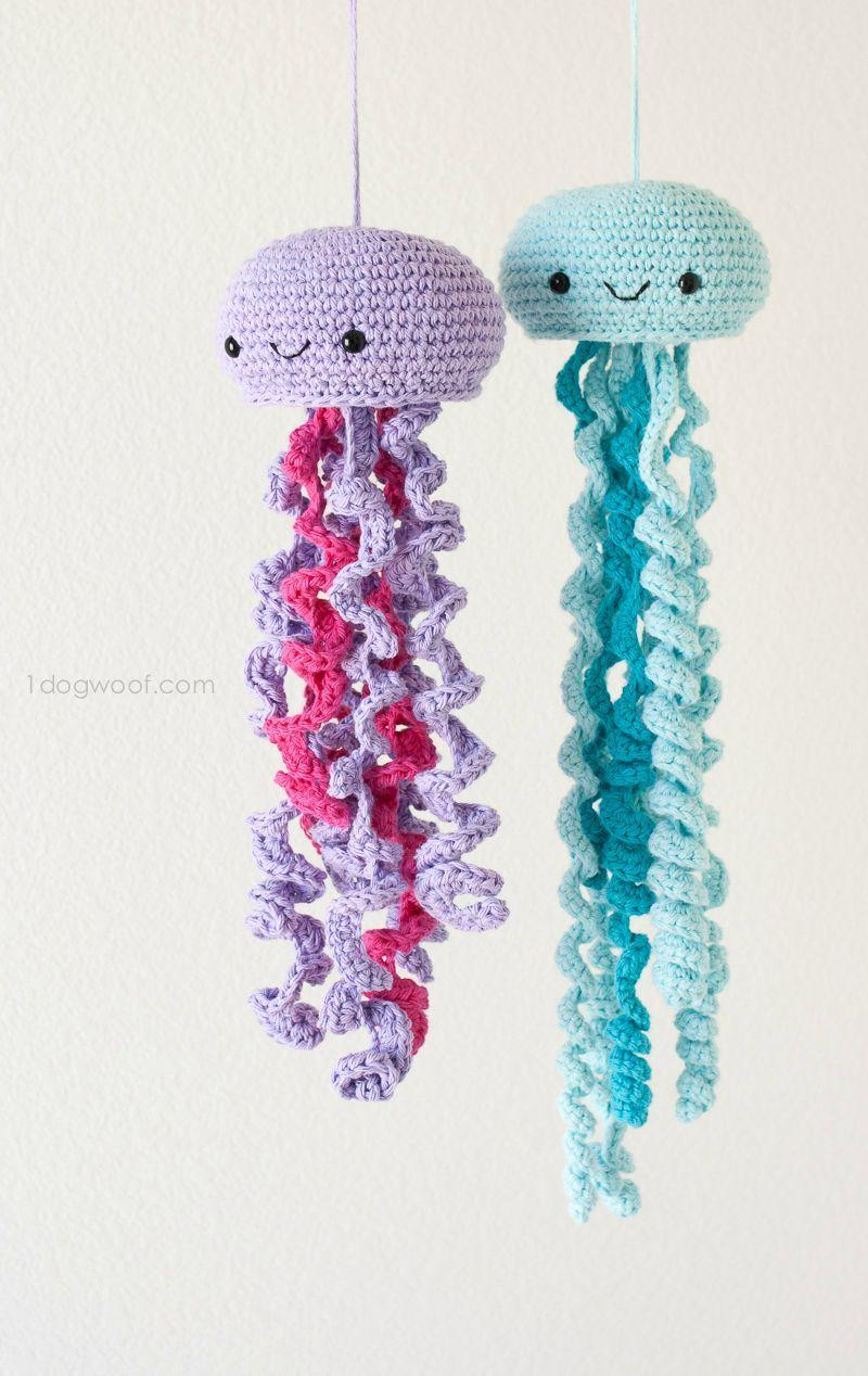 Crochet octopus to leave hanging in the room