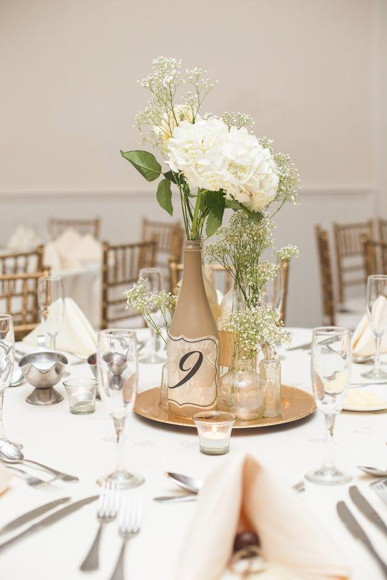 Table Top with Bottle: see beautiful ideas to decorate the table 7
