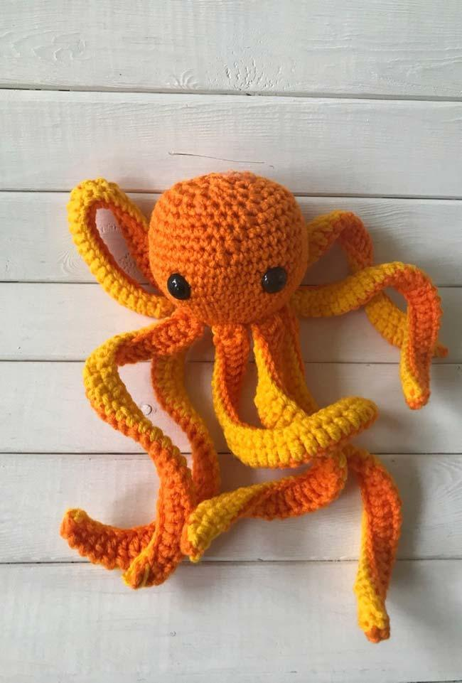 Powerful crochet octopus