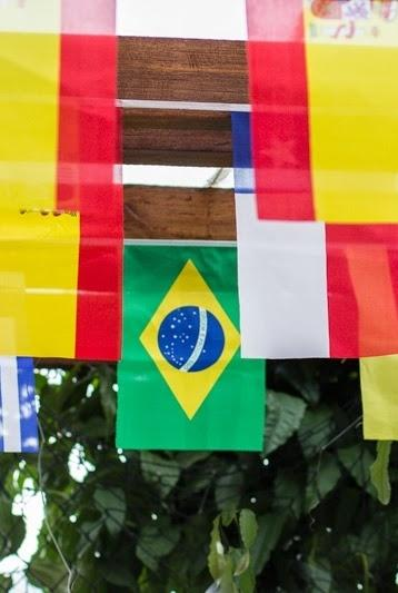 Decoration with banners for party World Cup