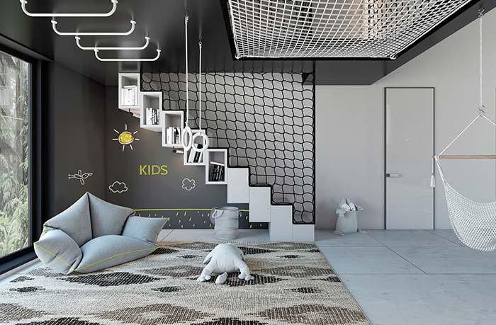 Black and white for modern nursery decoration
