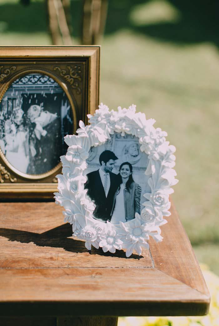 You can also display your photos in more elaborate frames in a mix of shapes, colors and textures