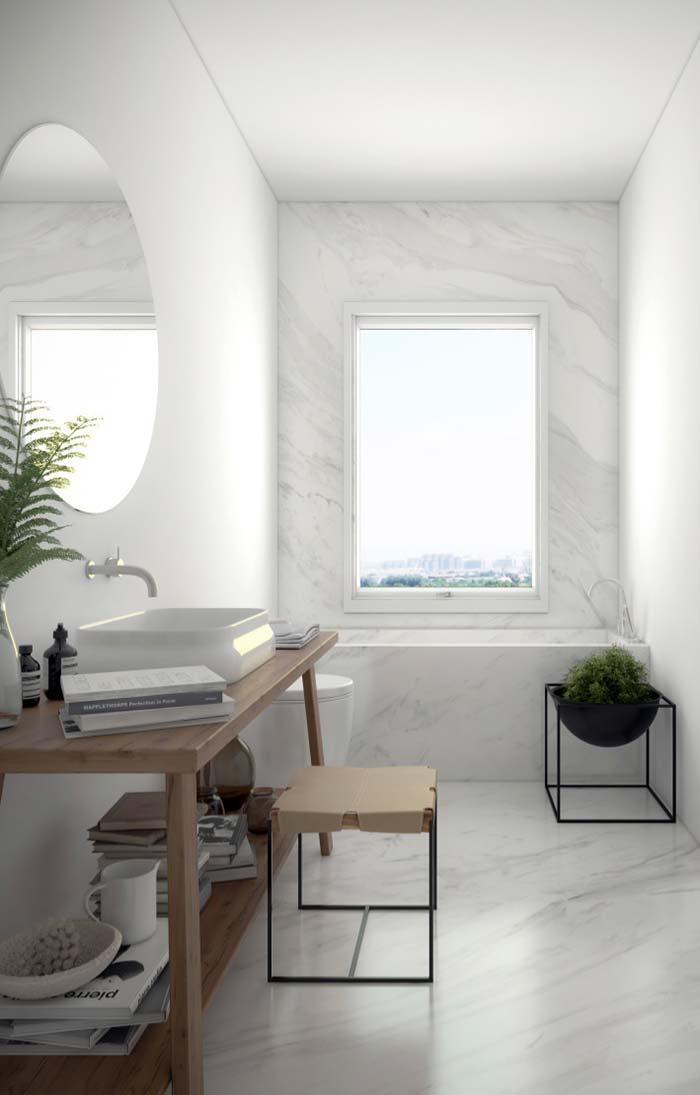 White marble for clean and soft bathroom