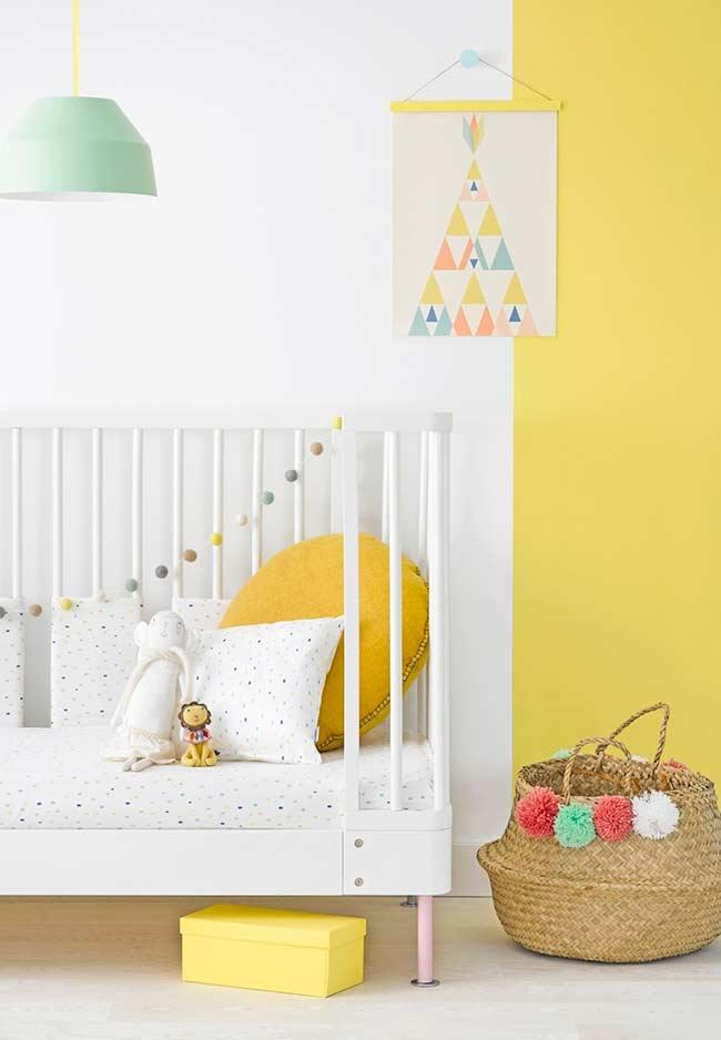Baby room with lighter shade of yellow