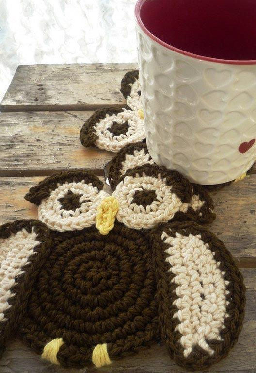 American game with crochet owls