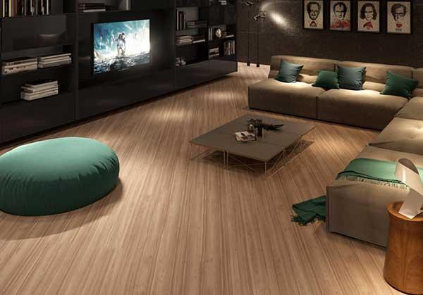 This laminate has a soft texture that leaves the atmosphere pleasant and relaxed