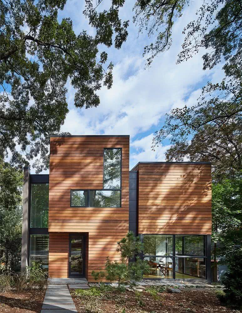 Houses with American style: 65 projects inside and out