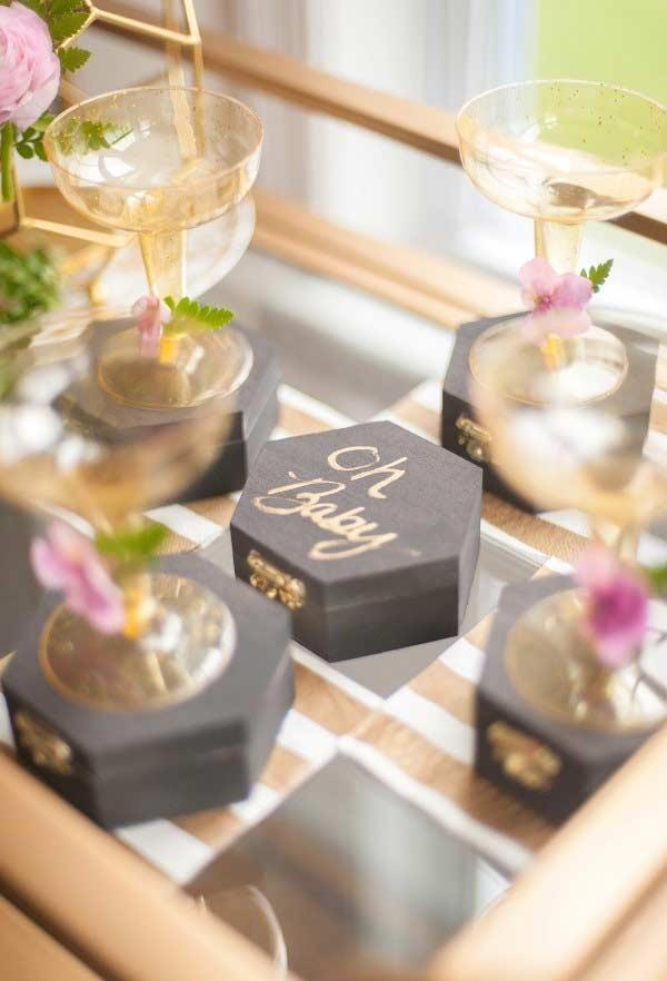 Mdf boxes for baby shower favors