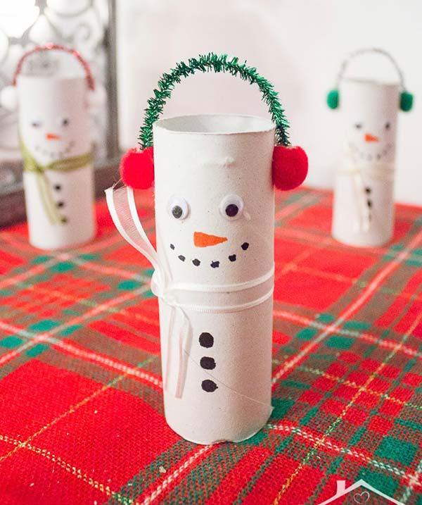 Fun embellishment with roll of toilet paper
