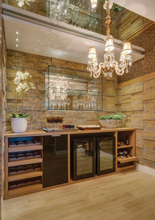 Wall bar: 60 amazing designs, designs and photos 18