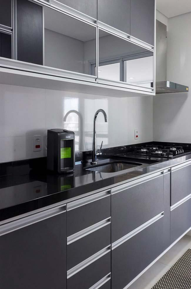 Absolute Black Granite for a clean style kitchen