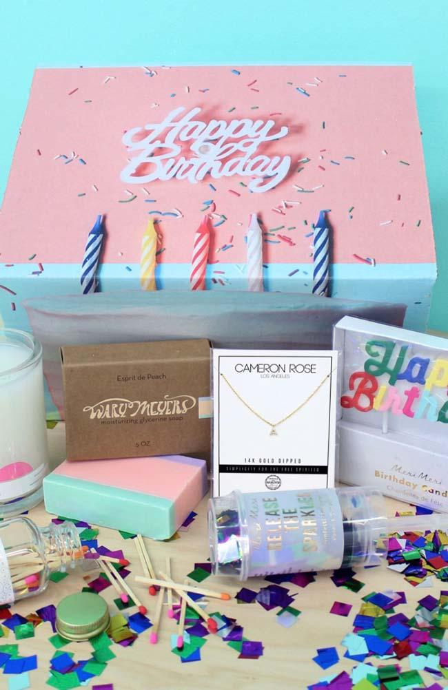 Party in the box with gift!