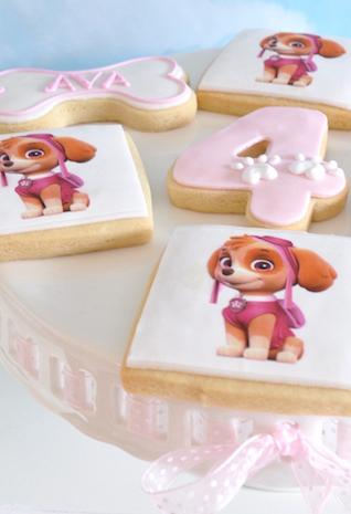 Buttery biscuits confected with the theme Canine Patrol
