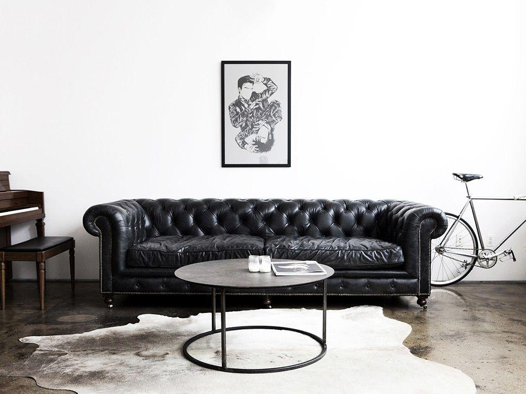 Leather sofa: 70 incredible models to decorate environments 5