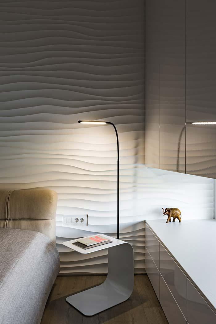 Textured mass as wallcovering
