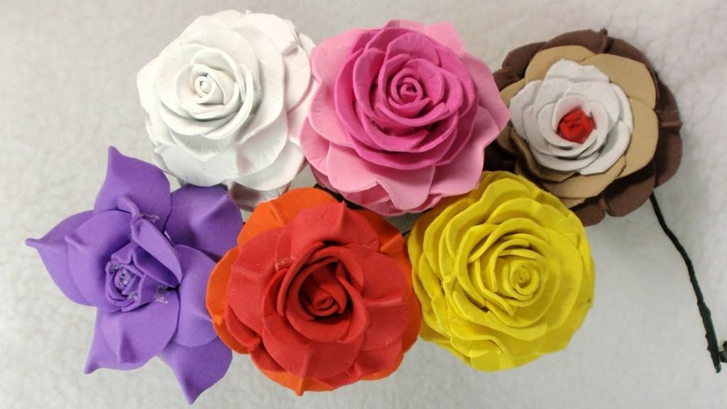 Flowers of EVA: 70 ideas, molds and step by step 43