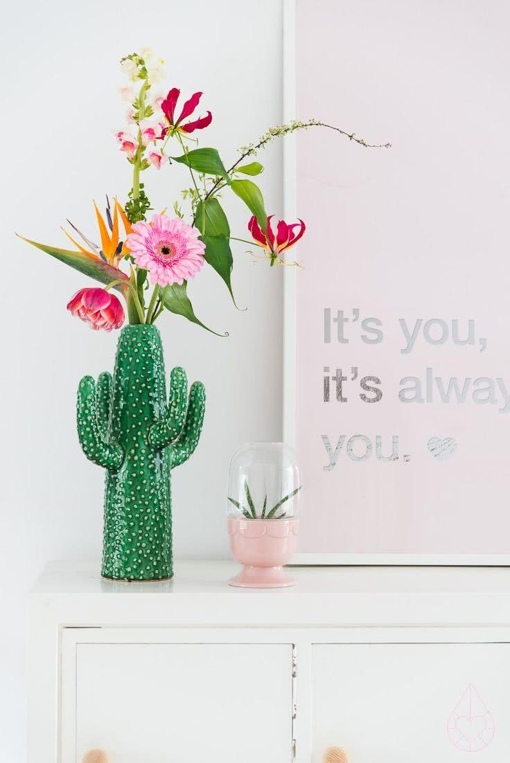 Cacti at home: 60 inspirations to decorate with the plant 26