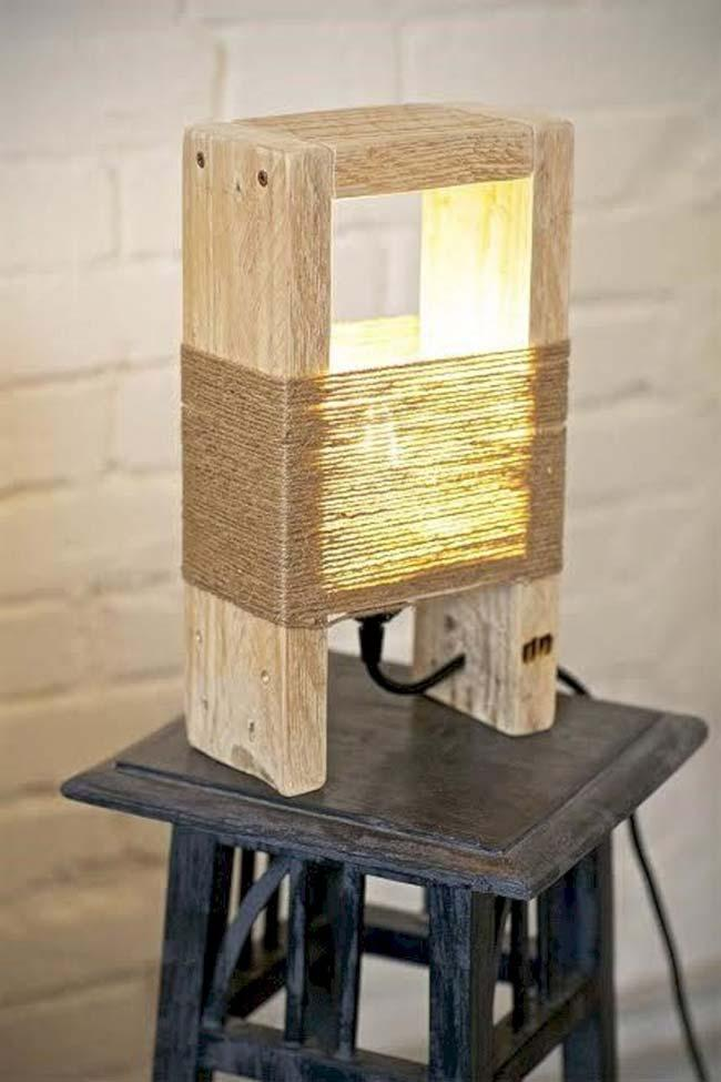 Rustic and uncluttered wooden luminaire