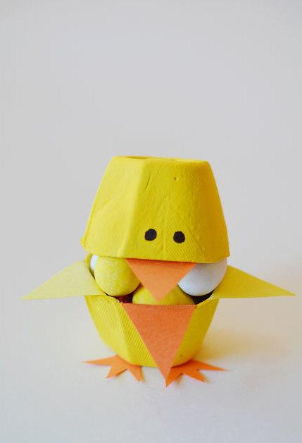 Handmade chick using material