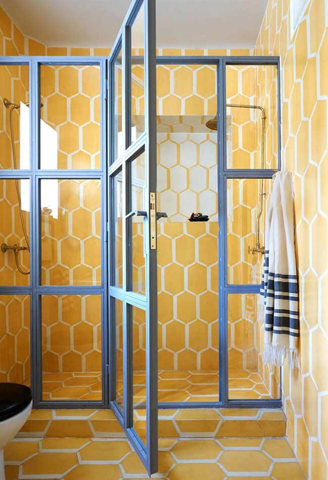 Yellow all over the bathroom