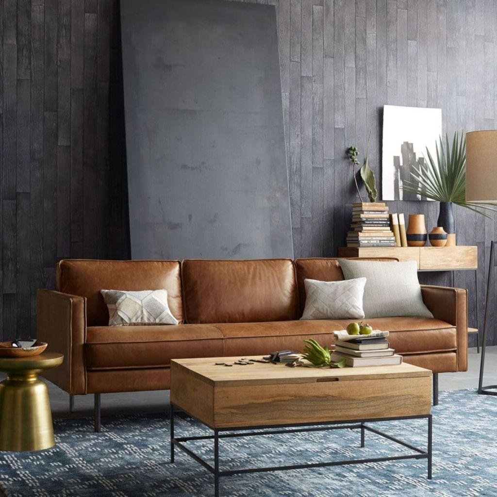 Leather sofa: 70 incredible models to decorate environments 43