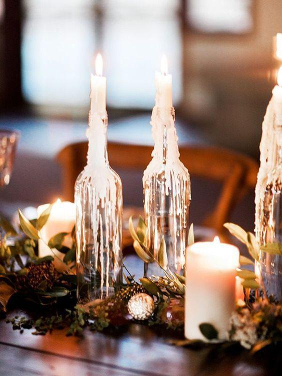 Table Top with Bottle: see beautiful ideas to decorate the table 31