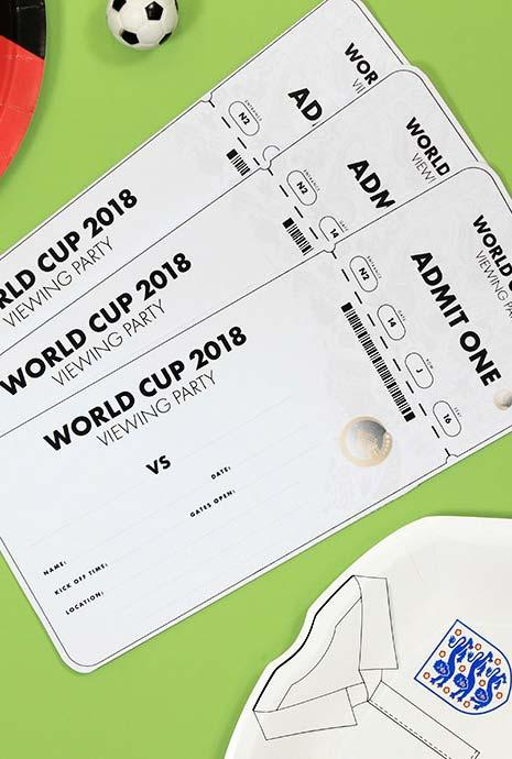 Party Invitations World Cup