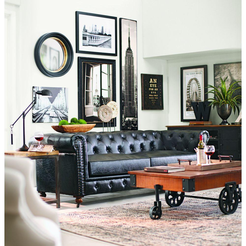 Leather sofa: 70 incredible models to decorate environments 24
