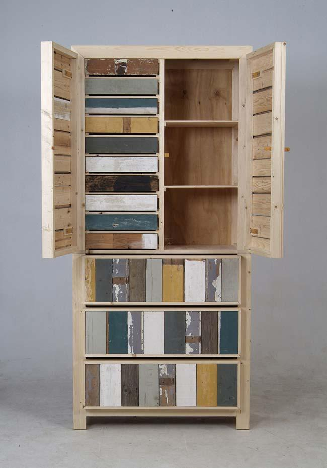 Pallet cabinet doors and drawers