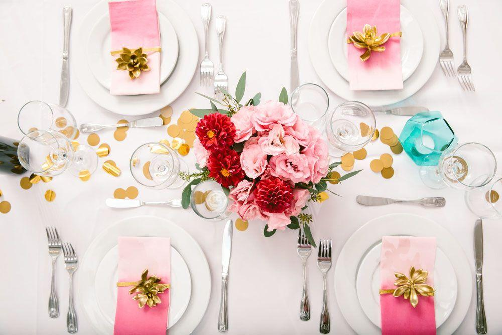 Napkin rings enhance table decoration