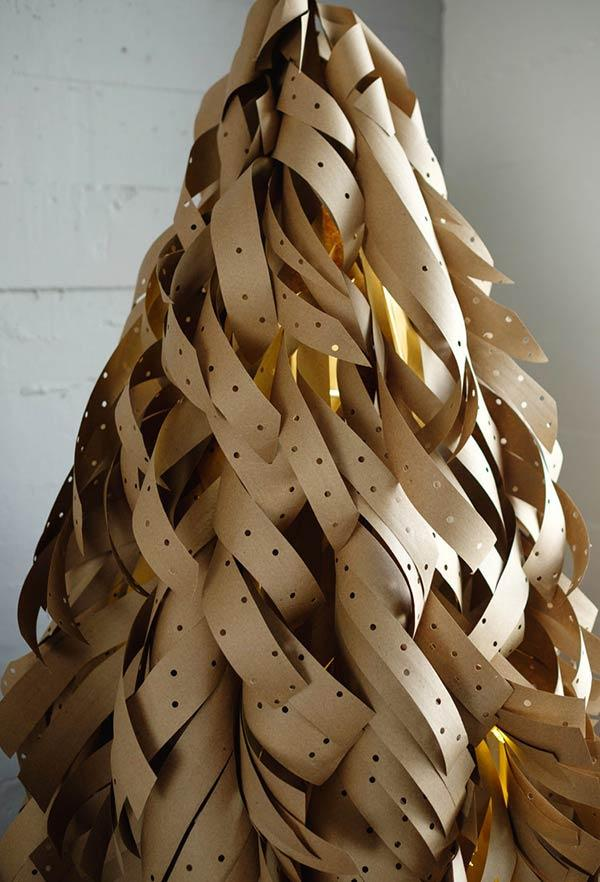 Big Christmas tree with craft paper