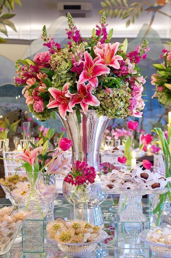 Wedding arrangements: 70 ideas for table, flowers and decoration 28