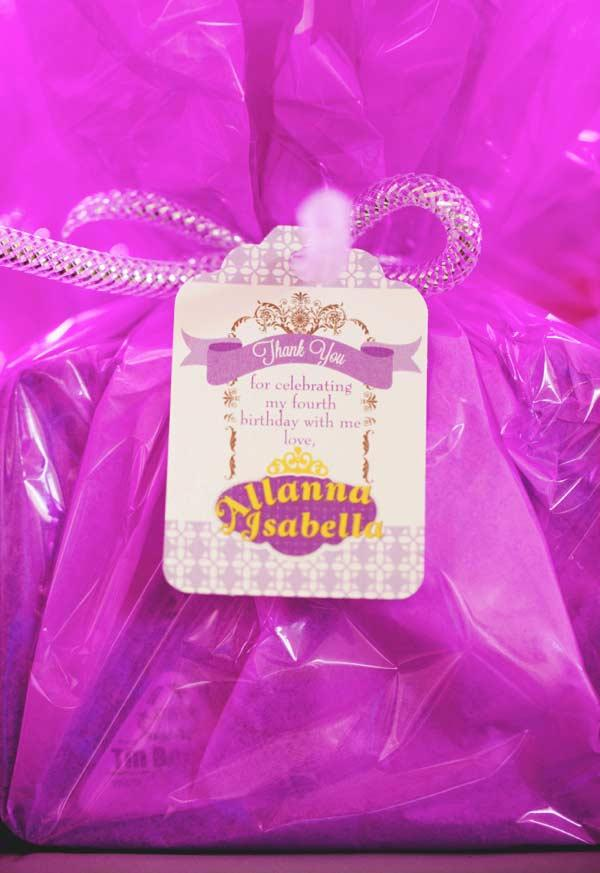 Surprise gift for princess party favors