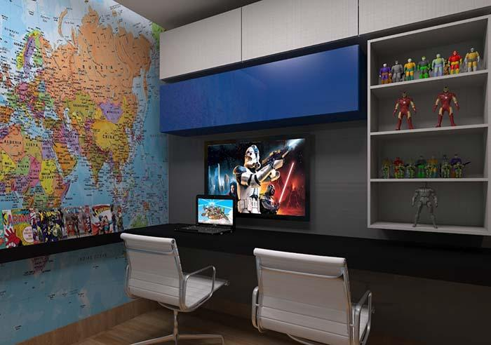 Niche Cabinet with Geek Decorating