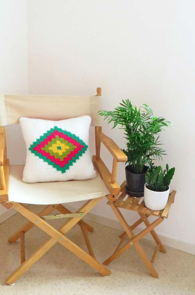 White crochet cushion covers are always a joker