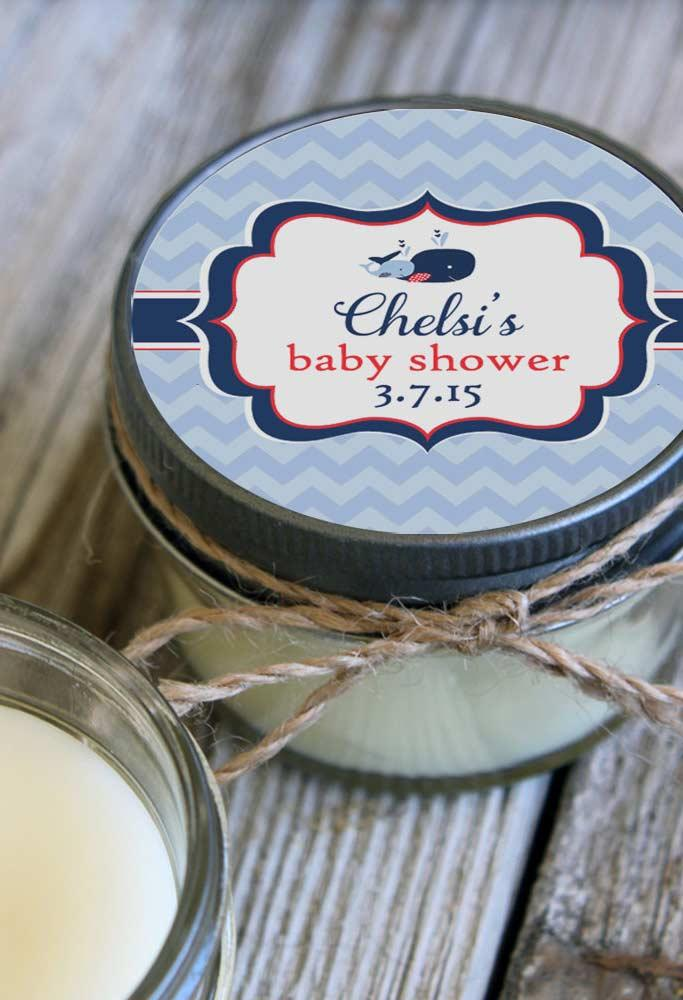 Exclusive sticker for baby shower favors