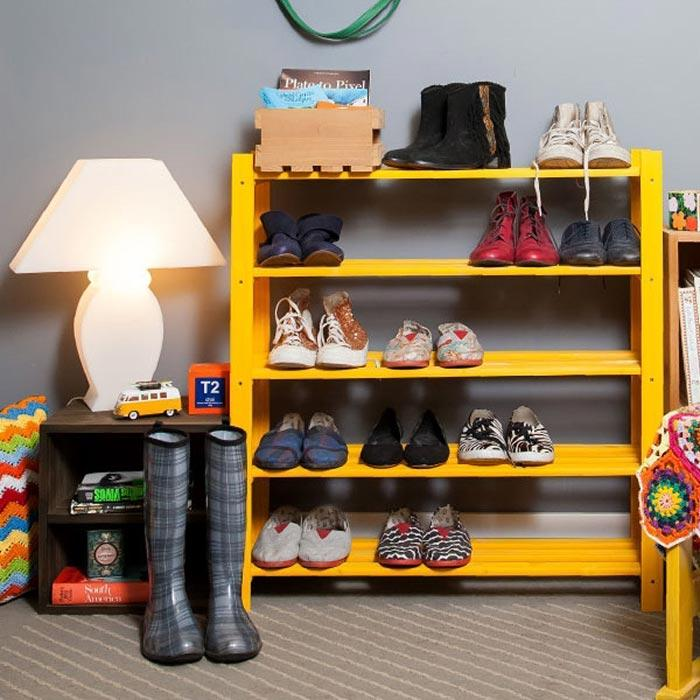 Pallet shelf for shoes