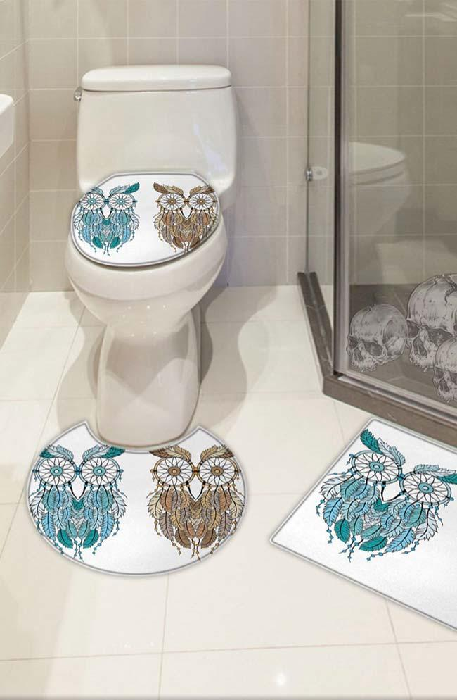 Hippies owls in the owl bathroom set