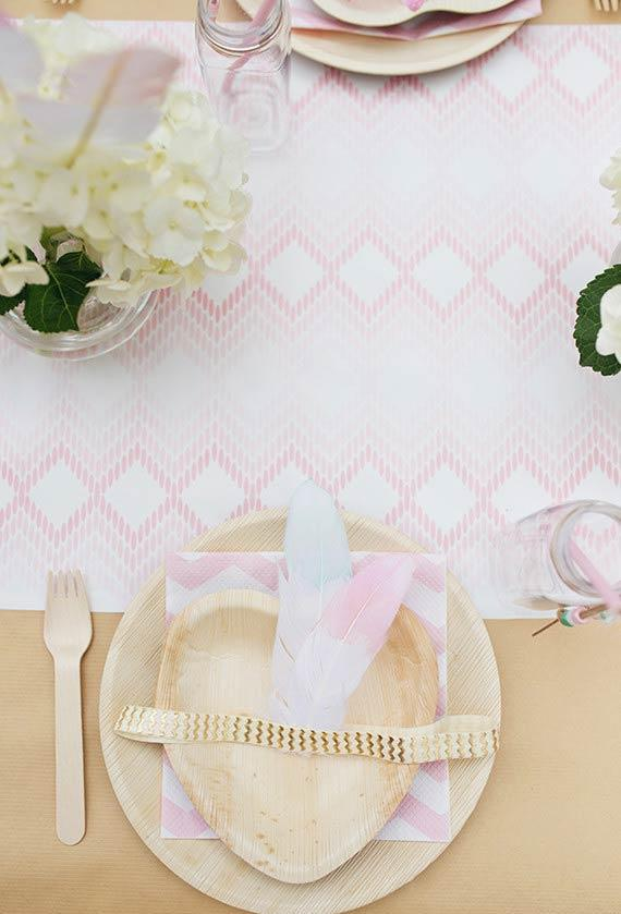 Wooden patterns for table decoration